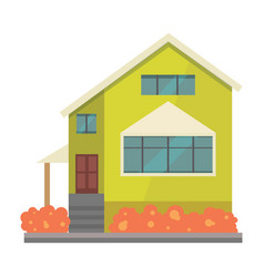 house cartoon town building vector image