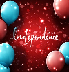 Independence Day Template greeting card with vector
