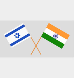 Israel and india israeli and indian flags vector
