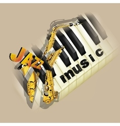 jazz music background with saxophone vector image