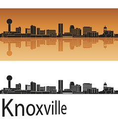 Knoxville skyline in orange vector