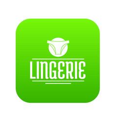 Lingerie design icon green vector
