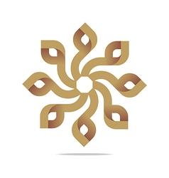 Logo Letter Infinity Spin Lettering Design vector image