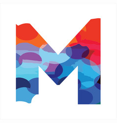 m colorful initial logo for enjoy modern funny vector image