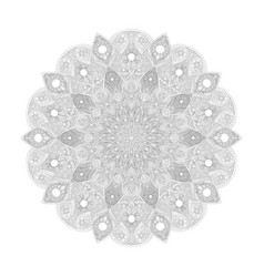 mandala pattern abstract floral art vector image