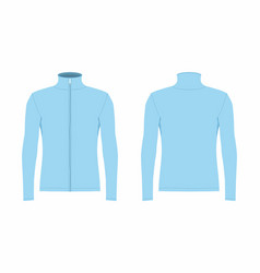 mens blue long sleeve t shirt vector image