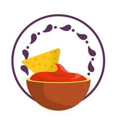 Mexican food gastronomy vector