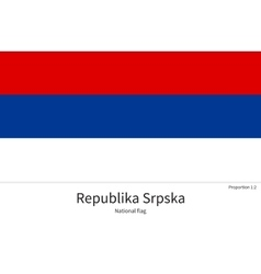 National flag of Republika Srpska with correct vector image