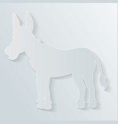paper donkey vector image
