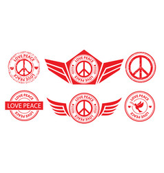 Peace label banner stamp sign vector