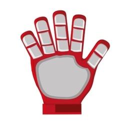 Red goalkeeper glove vector