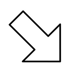 Right down arrow basic element icon vector