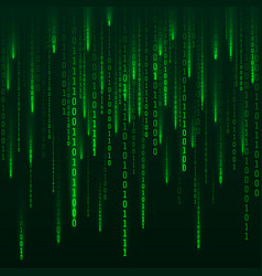 sci-fi background binary computer code green vector image