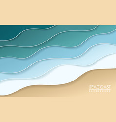 sea coast origami background wallpaper vector image