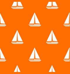 Sea yacht pattern seamless vector
