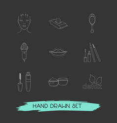 set of beautiful icons line style symbols with wet vector image