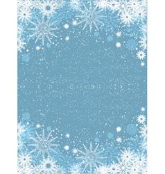 snowflake poster vector image