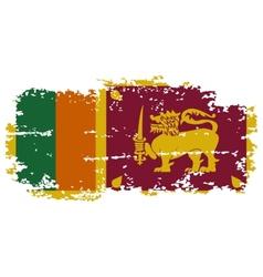 Sri Lanka grunge flag vector