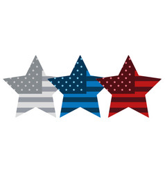 stars with american flag symbol vector image