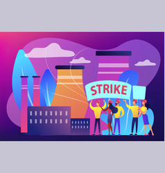 Strike action concept vector