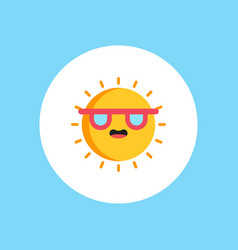 sun icon sign symbol vector image