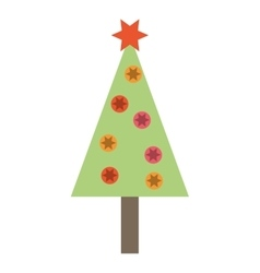 Tree pine christmas isolated icon vector