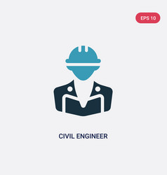 Two color civil engineer icon from professions vector