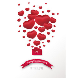 valentines or womens day card loves letter vector image
