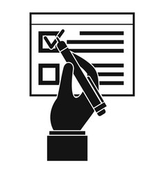 Vote sign paper icon simple style vector