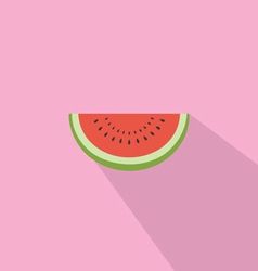 Watermelon Red Fresh Flat Design vector