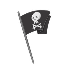 waving pirate flag vector image
