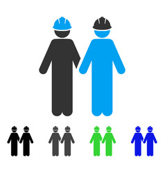 Workers flat icon vector