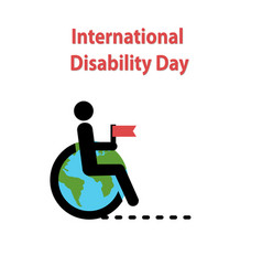 world disability day vector image