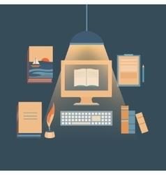 Writing books and copywriting vector image