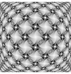 Design monochrome warped grid decorative pattern vector image vector image