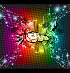 dj flyer background vector image vector image