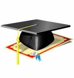 graduation mortar board vector image vector image