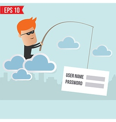 Hacker steal data on cloud computing for phishing vector