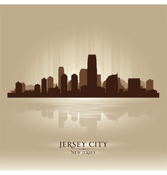 Jersey City New Jersey skyline city silhouette vector image