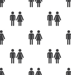 man and woman seamless pattern vector image