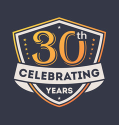 anniversary design element with shield vector image