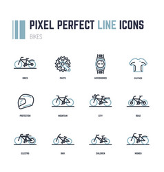 bike icons vector image
