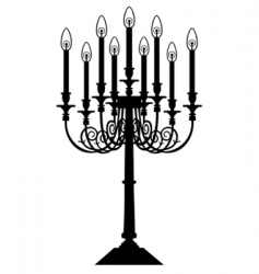 candle silhouette vector image vector image