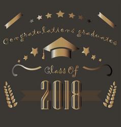 class of 2018 graduation theme vector image vector image