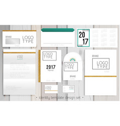 corporate identity template design set vector image vector image