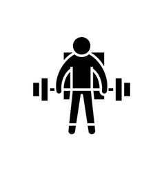 strong athlete - lifting weights icon vector image