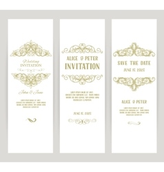 templates with banners vintage design elements vector image
