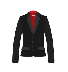women jacket flat vector image