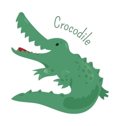Crocodile isolated Sticker for kids Child fun vector image vector image