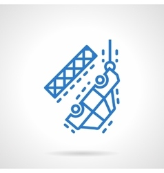 Evacuation of car blue line icon vector image